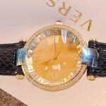 Versace Revive Mirror Mặt Tròn Màu Vàng Dây Da Màu Đen VAI210016