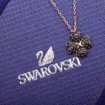 Swarovski Latisha Dây Màu Vàng Hồng Charm Cỏ Bốn Lá Màu Đen 5420246