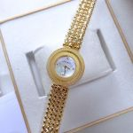 Versace Eon Mặt Tròn Xoay Dây Kim Loại Màu Vàng V79040014