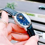 Raymond Weil Maestro Open Heart Automatic Mặt Tròn Viền Bạc Dây Da Màu Xanh 2227-STC-00508