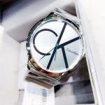 Calvin Klein Minimal Mặt Tròn Dây Kim Loại Màu Bạc K3M211Z6