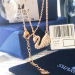 Swarovski Crystal Pave Thiên Nga Màu Vàng Hồng 5121597