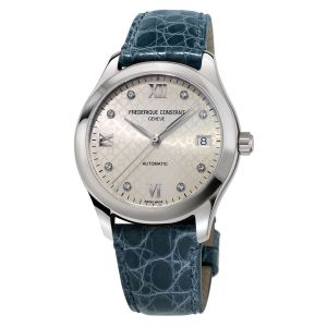 Frederique Constant Refined Specifications Automatic Diamond Mặt Tròn Dây Da Màu Xanh Lịch Ngày FC-303LGD3B6