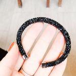 Swarovski Crystaldust Cuff Nạm Pha Lê Màu Đen 5250073