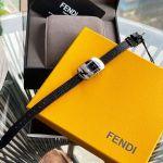 Fendi Chameleon Small Mặt Chữ Nhật Viền Bạc Dây Da Màu Đen F300021011D1