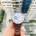 Orient Classic Automatic Mặt Tròn Màu Trắng Dây Kim Loại Màu Bạc RA-AR0102S