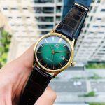 Orient Bambino Automatic Mặt Tròn Màu Xanh Dây Da Màu Nâu Lịch Ngày AC08002F