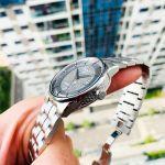 Tissot Luxury Anthracite Automatic Mặt Tròn Dây Kim Loại Màu Bạc Lịch Ngày T086.407.11.061.10
