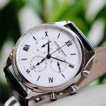 Frederique Constant Classics Chronograph Mặt Tròn Màu Bạc Dây Da Màu Đen Lịch Ngày FC-292MS5B6