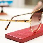 Cartier Santos Lense Tròn Gọng Vàng P00310416