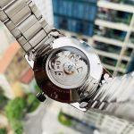Orient Sentinel Automatic Mặt Tròn Màu Đen Dây Kim Loại Màu Bạc Lịch Ngày FAC05001B0