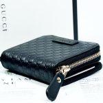 Gucci GG Monoglam Ngắn Màu Đen 449395 BMJ1G
