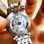 Maurice Lacroix Les Classiques Automatic Demi Vàng Hồng Mặt Tròn Dây Kim Loại Lịch Ngày LC6027-PS103-131