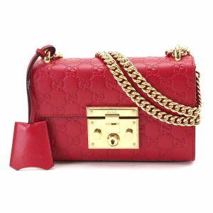 Gucci Padlock Signature Màu Đỏ 409487 CWC1G Size 20