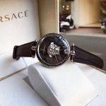 Versace Palazzo Empire Mặt Tròn Dây Da Màu Đen VCO050017