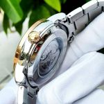 Bulova Classic Automatic Demi Vàng Hồng Mặt Tròn Màu Nâu Dây Kim Loại 98A140