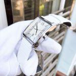 Calvin Klein Window Mặt Chữ Nhật Dây Da Màu Trắng Lịch Ngày K2M21120
