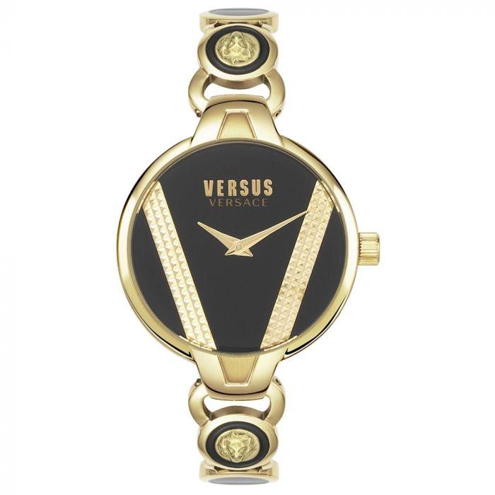 Versus by Versace Saint Germain Mặt Tròn Màu Đen Dây Kim Loại Màu Vàng VSPER0319