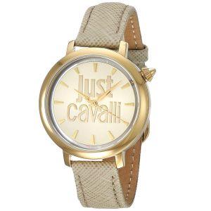 Just Cavalli Mặt Tròn Màu Vàng Dây Da Màu Ngà JC1L007L0025