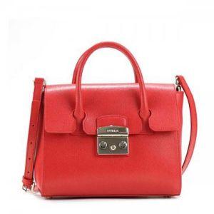 Furla Satchel S Màu Đỏ Ruby 851151