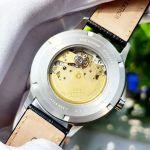 Citizen Analog Automatic Mặt Tròn Màu Xanh Dây Da Màu Đen Lịch Ngày NJ0090-21L