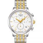 Tissot T-Classic Tradition Chronograph Demi Vàng Mặt Tròn Dây Kim Loại Lịch Ngày T063.617.22.037.00