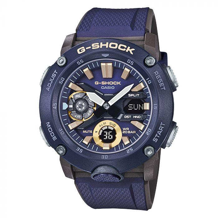Casio G-Shock Dây Cao Su Màu Xanh GA-2000-2A