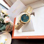 Versace Greca Signature Mặt Tròn Màu Xanh Dây Kim Loại Màu Vàng VEVC00619