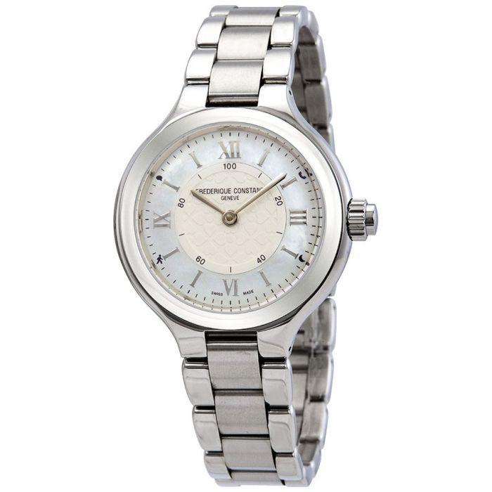 Frederique Constant Horological Smartwatch Mặt Tròn Khảm Trai Dây Kim Loại Màu Bạc 281WH3ER6B