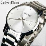Calvin Klein City Mặt Tròn Dây Kim Loại Màu Bạc Lịch Ngày K2G2G14X