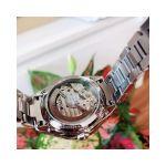 Bulova Diamond Automatic Mặt Tròn Dây Kim Loại Màu Bạc 96P181