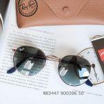 Ray-ban Gradient Lense Tròn Màu Xanh Nâu Gọng Kim Loại RB3447 900396 50-21
