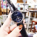 Frederique Constant Manufacture Slim Line Moon Phase Automatic Mặt Tròn Dây Da Màu Xanh Lịch Ngày FC-705N4S6