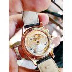 Frederique Constant Flyback Chronograph Manufacture Automatic Mặt Tròn Màu Bạc Dây Da Màu Nâu Lịch Ngày FC-760V4H4