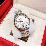 Tissot PR100 Chronometer Demi Vàng Mặt Tròn Dây Kim Loại Lịch Ngày T101.451.22.031.00