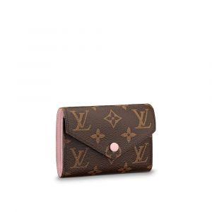 Louis Vuitton Victorine Gập Lót Màu Hồng M62360