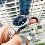 Orient Classic Automatic Mặt Tròn Màu Đen Dây Kim Loại Màu Bạc Lịch Ngày Thứ FAL00002B0