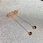Swarovski Khuyên Tai Iconic Swan Màu Vàng Hồng 5373164