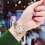 Bulova Diamond Demi Mặt Tròn Khảm Trai Dây Kim Loại 98P140