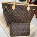 Louis Vuitton Neverfull MM Monogram Màu Nâu Lòng Nâu Kèm Zip Pouch