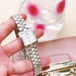 Tissot T-Lady Mặt Vuông Khảm Trai Dây Kim Loại Màu Bạc Lịch Ngày T090.310.11.111.01