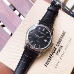 Frederique Constant Classics Index Automatic Mặt Tròn Dây Da Màu Đen Lịch Ngày FC-303B6B6