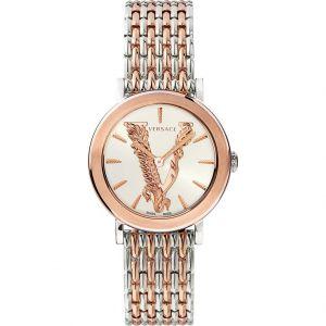 Versace Virtus Mặt Trắng Dây Kim Loại VEHC00519