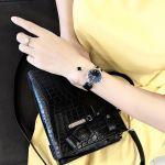 Gucci Diamantissima Mặt Tròn Dây Da Màu Đen YA141403