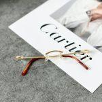 Cartier Gọng Cận Kim Loại Màu Vàng CT0045O 002