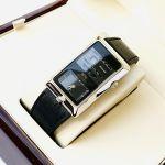 Orient Dual Time Analog Automatic Mặt Chữ Nhật Dây Da Màu Đen FXCAA003B0