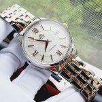 Orient Automatic Mặt Trắng Dây Kim Loại Demi SAC04001W0