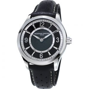 Frederique Constant Horological Smartwatch Mặt Tròn Dây Da Đen FC-282AB5B6