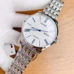 Citizen Automatic White Dial Mặt Trắng Dây Kim Loại Màu Bạc NH8350-59B