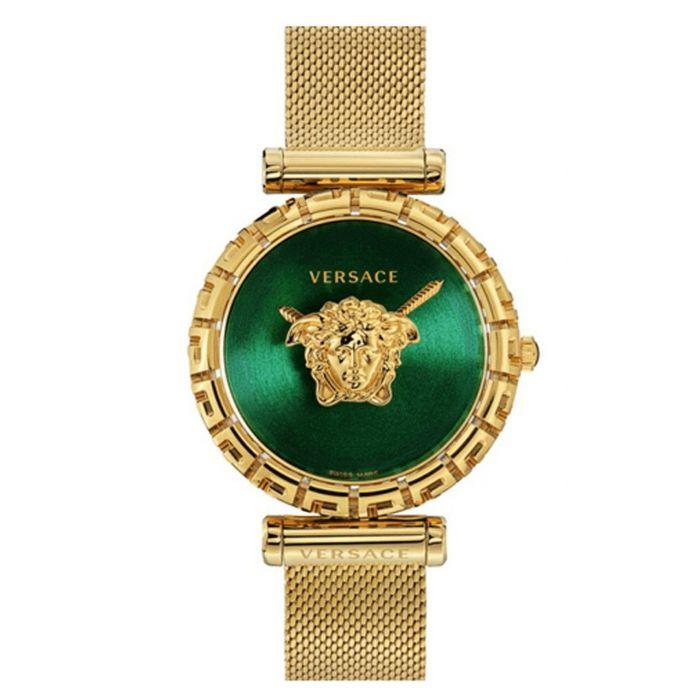 Versace Palazzo Emprie Greca Dây Lưới Mặt Màu Xanh Green VEDV00819